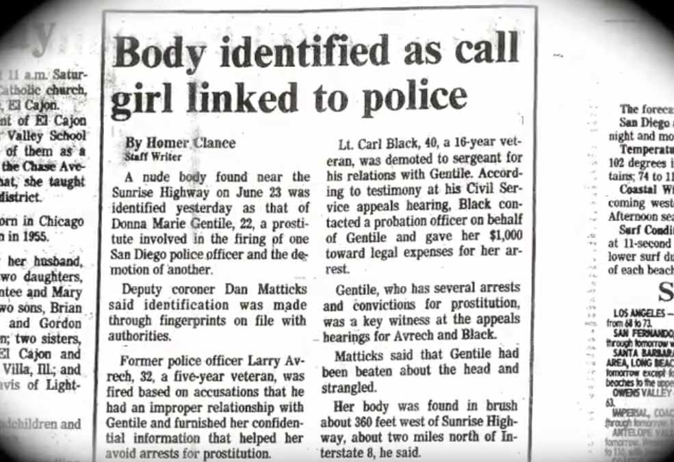 Donna Gentile Death Certificate
